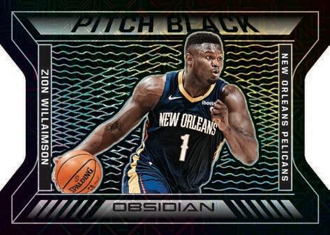 2020 21 Panini Obsidian Basketball NBA Cards Pitch Black Zion Williamson