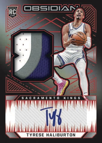 2020 21 Panini Obsidian Basketball NBA Cards Rookie Jersey Autographs Tyrese Haliburton RC