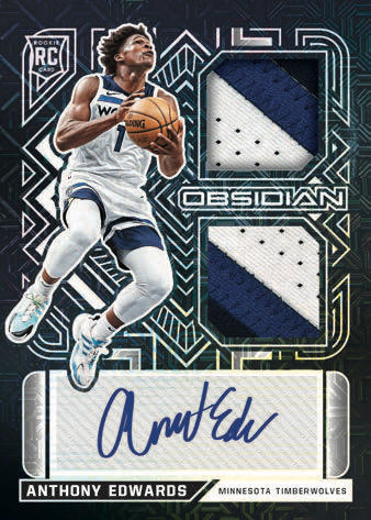 2020 21 Panini Obsidian Basketball NBA Cards Rookie Jersey Ink Anthony Edwards RC auto