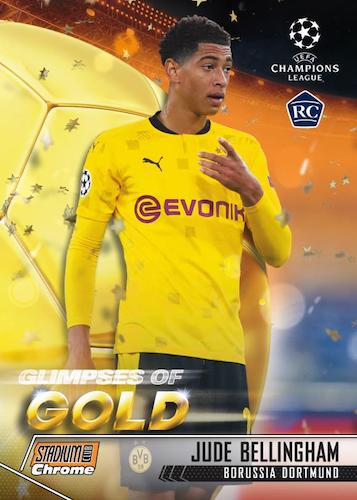 2020 21 Topps Stadium Club Chrome UEFA Champions League Soccer Cards Glimpses of Gold Insert Jude Bellingham RC