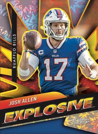 2021 Panini Absolute Football NFL Cards Explosive Josh Allen