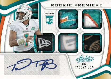 2021 Panini Absolute Football NFL Cards Rookie Premiere Materials Autos Five RC RPA
