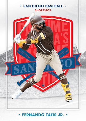 2021 Panini Chronicles Baseball Cards Base Americas Pastime Holo Patinum Blue Fernando Tatis Jr