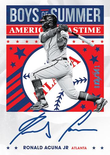 2021 Panini Chronicles Baseball Cards Boys of Summer and Americas Pastime Autographs Ronald Acuna Jr