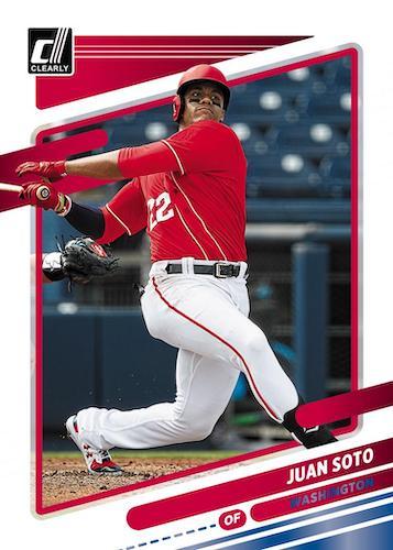 2021 Panini Chronicles Baseball Cards Clearly Donruss Blue Juan Soto