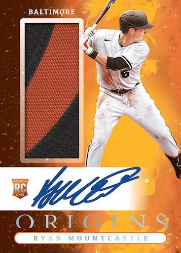 2021 Panini Chronicles Baseball Cards Origins Jumbo Rookie Material Autographs Ryan Mountcastle RC auto