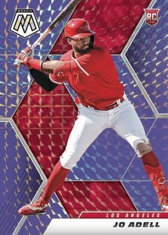 2021 Panini Mosaic Baseball Cards Base Rookies Mosaic Purple Jo Adell RC exclusive