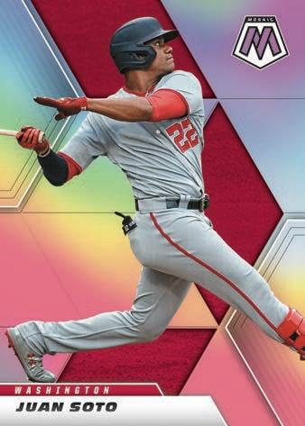 2021 Panini Mosaic Baseball Cards Base Silver Prizm Juan Soto
