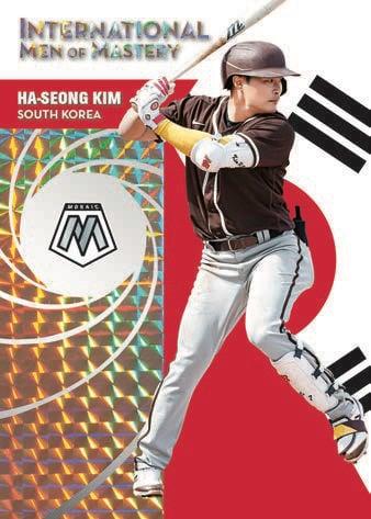 2021 Panini Mosaic Baseball Cards International Men of MASTERY Mosaic White Exclusive Ha Seong Kim