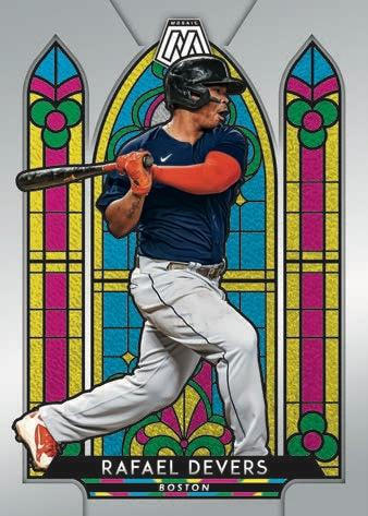 2021 Panini Mosaic Baseball Cards Stained Glass Rafael Devers