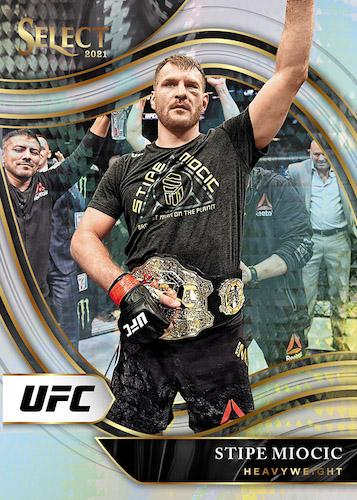 2021 Panini Select UFC Cards Octagonside Silver Prizms Stipe Miocic 2
