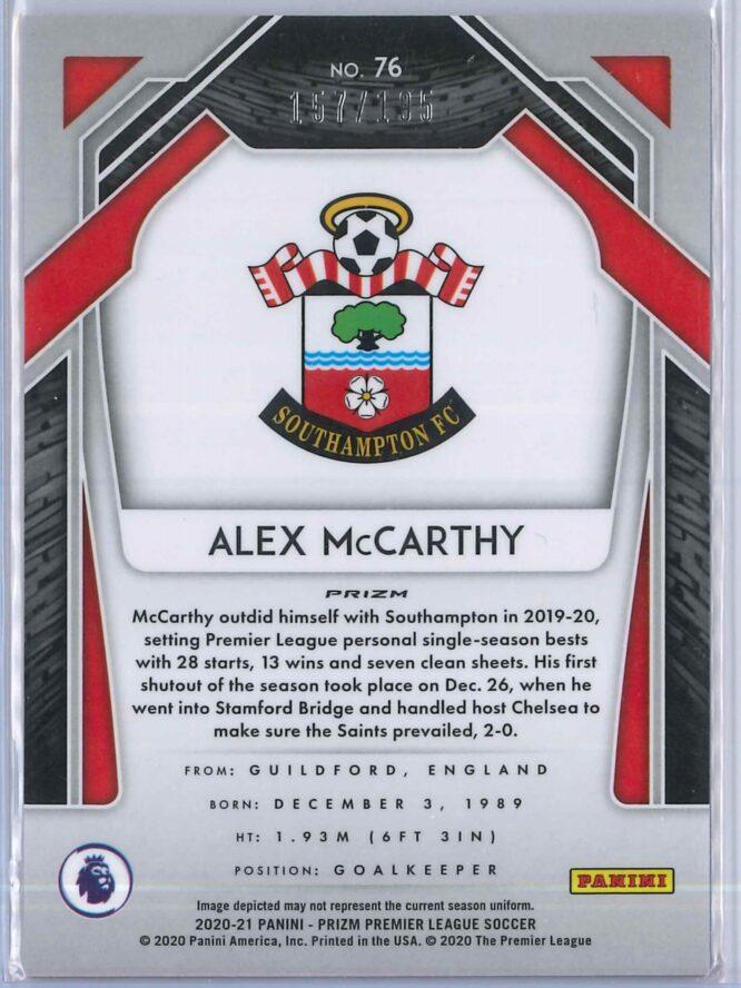 Alex McCarthy Panini Prizm Premier League 2020 21 Blue Pulsar 157195 2