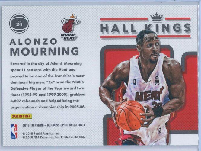 Alonzo Mourning Panini Donruss Optic Basketball 2017 18 Hall Kings 2