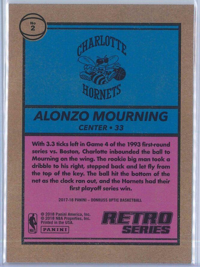 Alonzo Mourning Panini Donruss Optic Basketball 2017 18 Retro Series 2