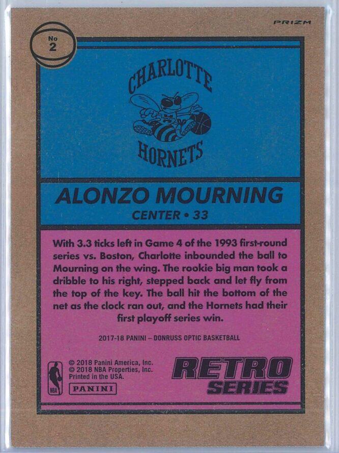 Alonzo Mourning Panini Donruss Optic Basketball 2017 18 Retro Series Holo 2