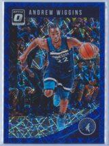 Andrew Wiggins Panini Donruss Optic Basketball 2018-19  Blue Velocity Prizm