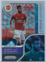 Bruno Fernandes Panini Prizm Premier League 2020-21 Instant Impact Silver Prizm