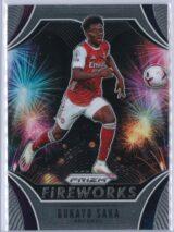 Bukayo Saka Panini Prizm Premier League 2020-21 Fireworks