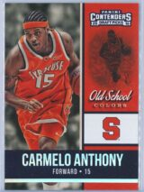 Carmelo Anthony Panini Contenders Draft Picks 2016-17 Old School Colors