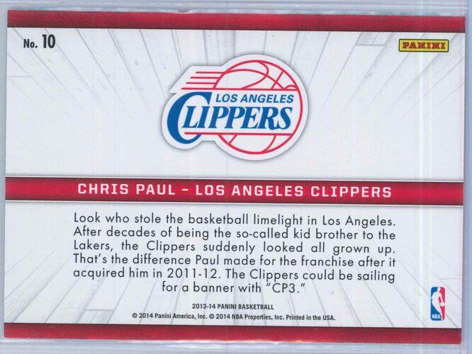 Chris Paul Panini Basketball 2013 14 Birds Eye View 2