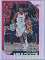 Clint Capela Panini NBA Hoops 2018 19 Silver 036199 1