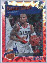 Damian Lillard Panini NBA Hoops 2019-20 Tribute Red Explosion 1115