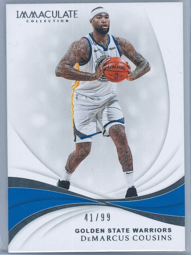 DeMarcus Cousins Panini Immaculate Collection 2018 19 4199 1