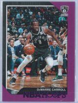 DeMarre Carroll Panini NBA Hoops 2018-19  Purple
