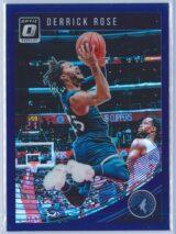 Derrick Rose Panini Donruss Optic Basketball 2018-19  Blue Velocity Prizm