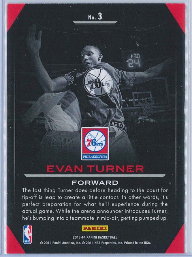 Evan Turner Panini Basketball 2013 14 Preparation 2