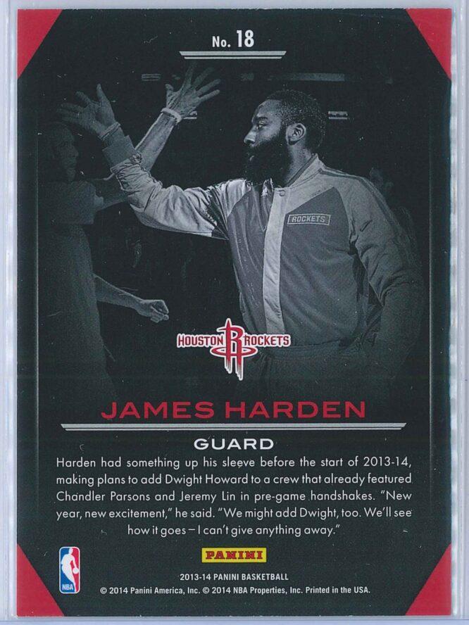 James Harden Panini Basketball 2013 14 Preparation 2