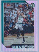 Jayson Tatum Panini NBA Hoops 2018 19 Silver 127199 1