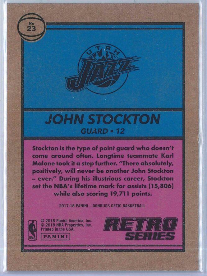 John Stockton Panini Donruss Optic Basketball 2017 18 Retro Series 2