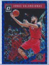 Jonas Valanciunas Panini Donruss Optic Basketball 2018-19  Blue Velocity Prizm