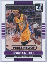 Jordan Hill Panini Donruss Basketball 2014-15  Press Proof Purple 018199