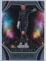 Jordan Pickford Panini Prizm Premier League 2020-21 Fireworks
