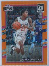 Lou Williams Panini Donruss Optic Basketball 2017-18  Orange Prizm 075199