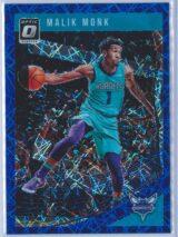 Malik Monk Panini Donruss Optic Basketball 2018-19  Blue Velocity Prizm