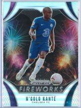 Ngolo Kante Panini Prizm Premier League 2020-21 Fireworks Silver Prizm