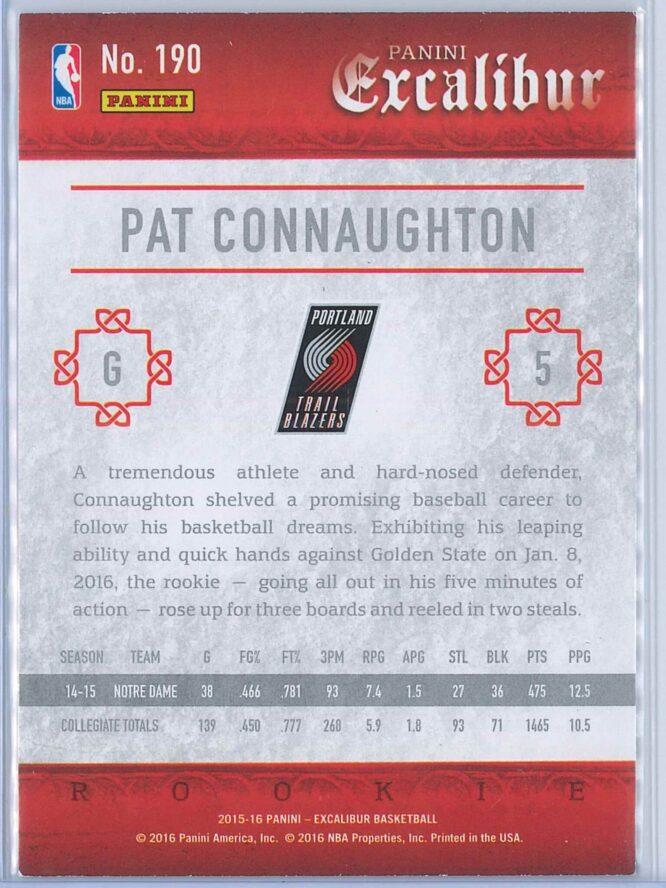 Pat Connaughton Panini Excalibur 2015 16 RC 2