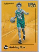 Romeo Langford Panini NBA Hoops 2019-20 Arriving Now