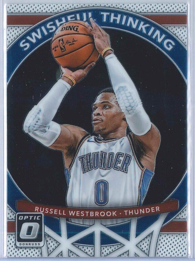Russell Westbrook Panini Donruss Optic Basketball 2017-18 Swishful Thinking