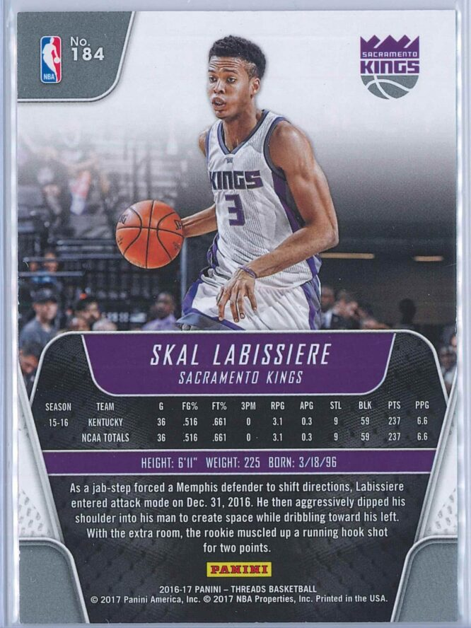 Skal Labissiere Panini Threads 2016 17 Red 005199 RC 2