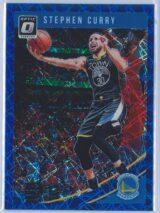 Stephen Curry Panini Donruss Optic Basketball 2018-19  Blue Velocity Prizm