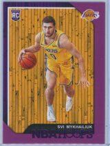Svi Mykhailiuk Panini NBA Hoops 2018-19  Purple  RC