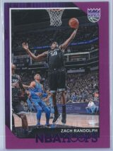 Zach Randolph Panini NBA Hoops 2018-19  Purple