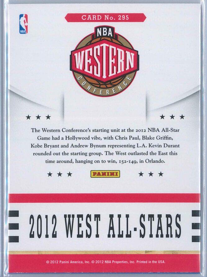 2012 West All Stars Panini NBA Hoops 2012 13 Base 2
