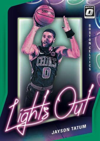 2020 21 Donruss Optic Basketball NBA Cards Lights Out Jayson Tatum