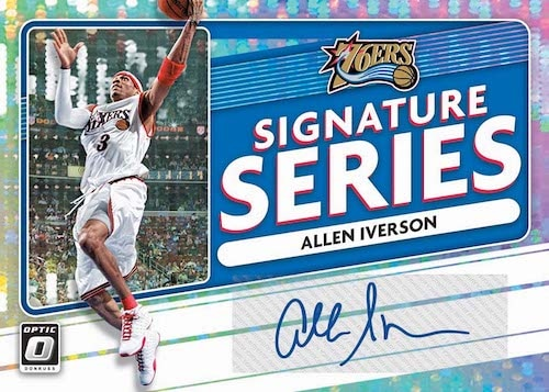 2020 21 Donruss Optic Basketball cards Signature Series Allen Iverson
