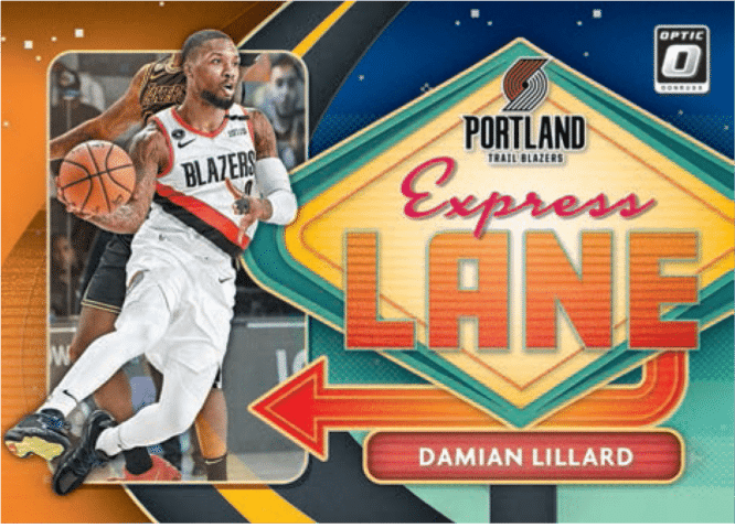 2020 21 Panini Donruss Optic Basketball Signature Express Lane Orange Damian Lillard